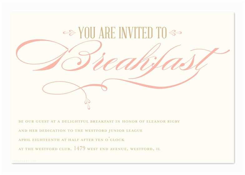 Post Wedding Breakfast Invitation Wording Breakfast Invitations Gallery