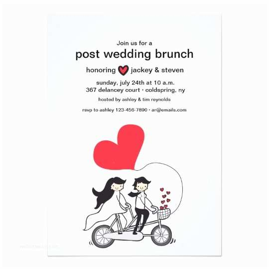 Post Wedding Breakfast Invitation Wording In Love Post Wedding Brunch Invitation