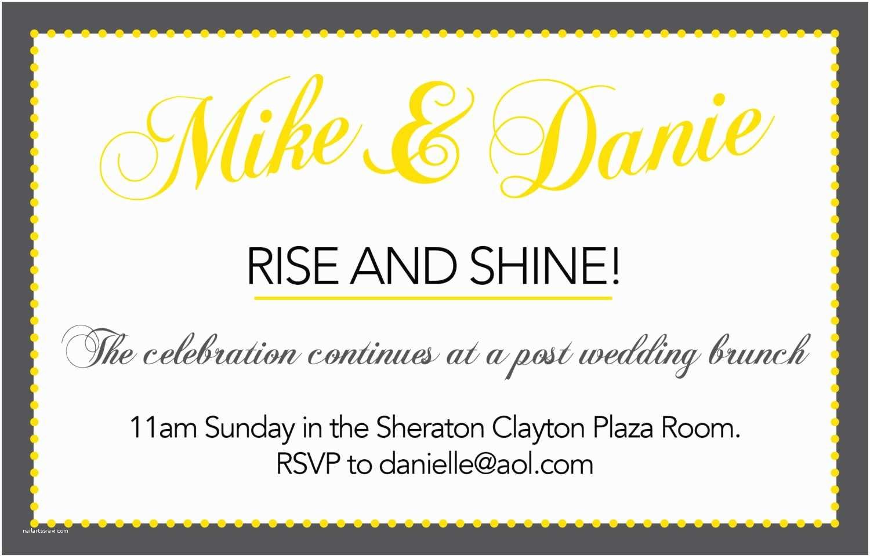 Post Wedding Breakfast Invitation Wording Post Wedding Brunch Invitations
