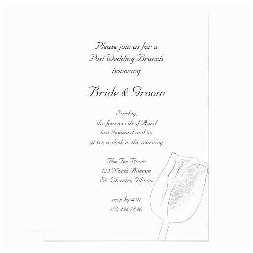 Post Wedding Breakfast Invitation Wording Tulip Sketch Post Wedding Brunch Invitation