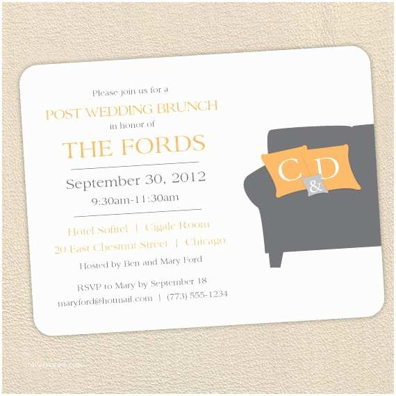 wonderful post wedding brunch invitations