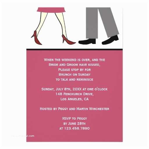 Post Wedding Brunch Invitation Wording Couple Post Wedding Brunch 5x7 Paper Invitation Card