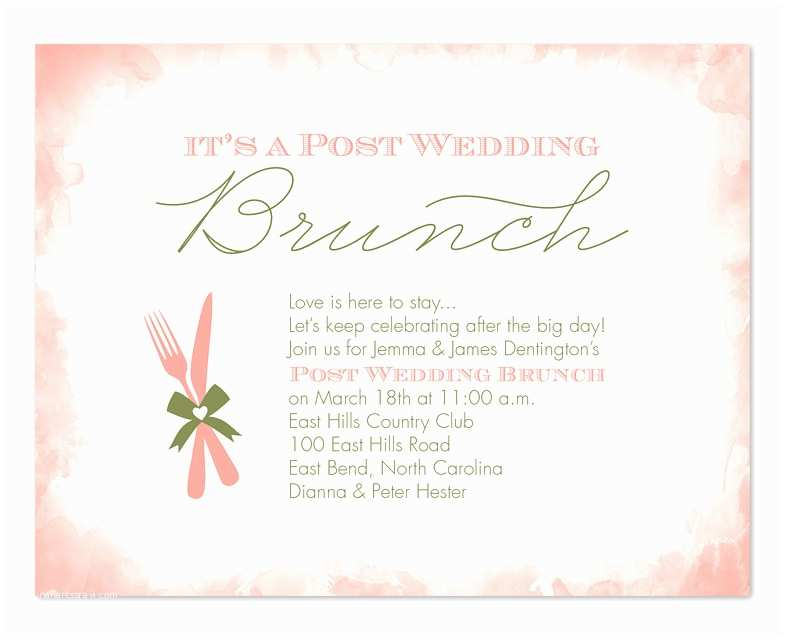 Post Wedding Brunch Invitation Wording Post Wedding Brunch Party Invitations by Invitation