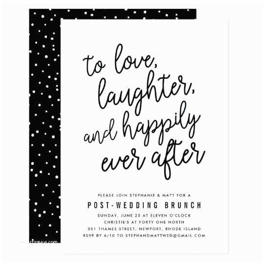 Post Wedding Brunch Invitations Happily Ever after Post Wedding Brunch Invitation
