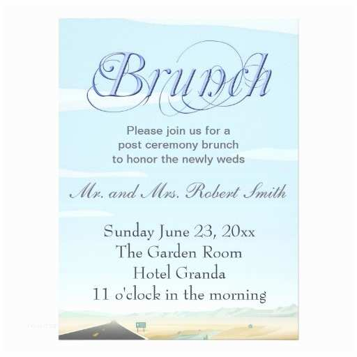 Post Wedding Brunch Invitations Post Wedding Brunch Invitations