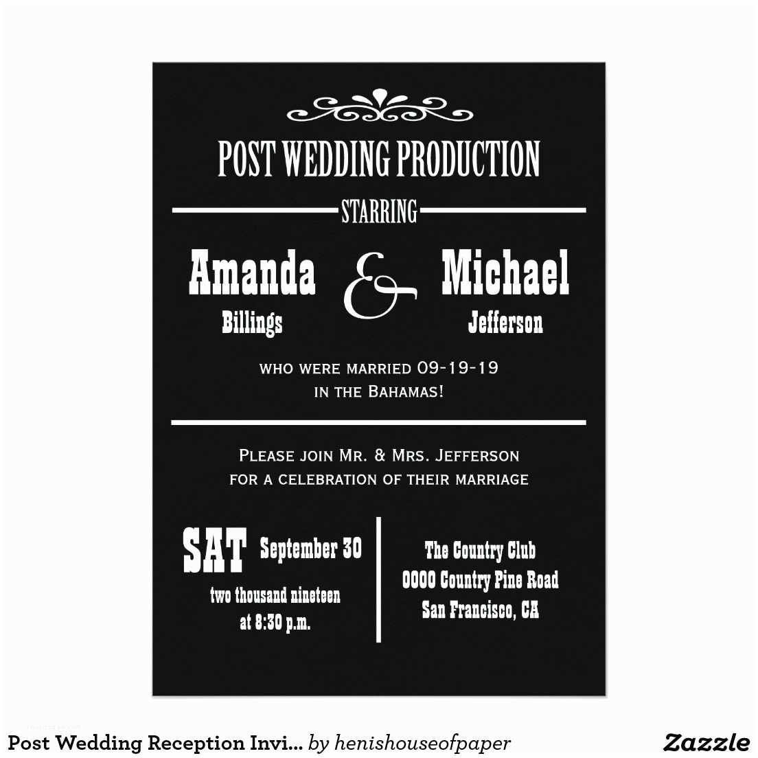 Post Wedding Celebration Invitations Post Wedding Party Invitations Invitation Librarry