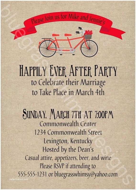 Post Wedding Celebration Invitations Post Wedding Party Invitations