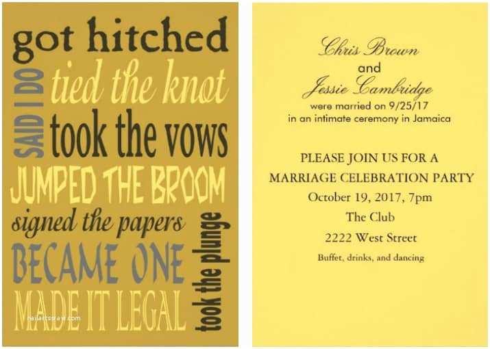 Post Wedding Invitations 21 Beautiful at Home Wedding Reception Invitations