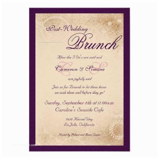Post Wedding Invitations Day after Wedding Breakfast Invitation Wording Yaseen for