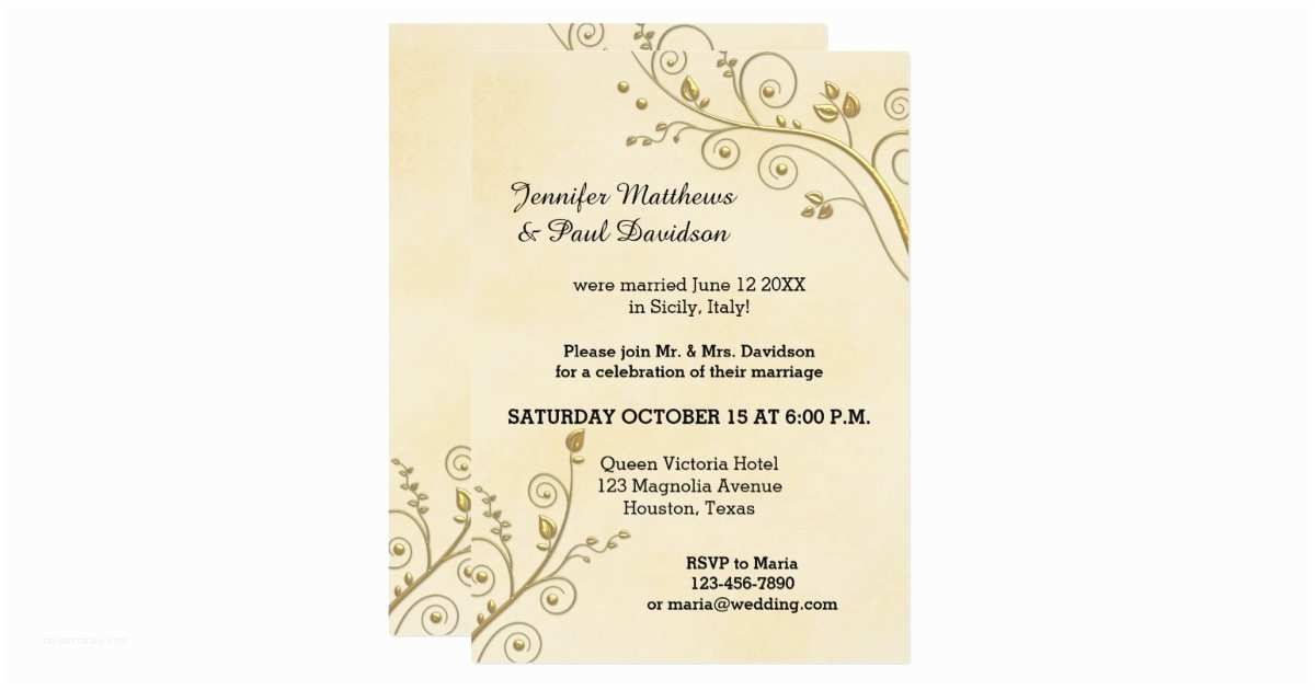 Post Wedding Party Invitations Elope Or Invitation