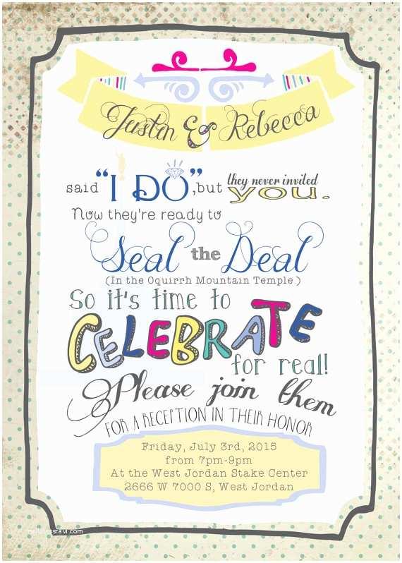 Post Wedding Party Invitations Post Wedding Party Invitations