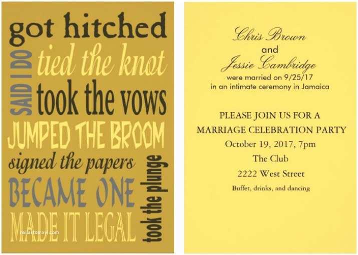 Post Wedding Reception Invitation Wording Invitation Wording for Post Wedding Party Image