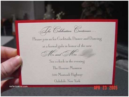 Post Wedding Reception Invitation Wording Post Reception Wedding Invitation Wording