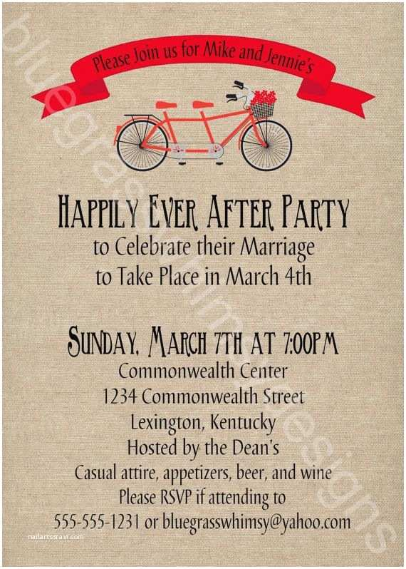 Post Wedding Reception Invitation Wording Party