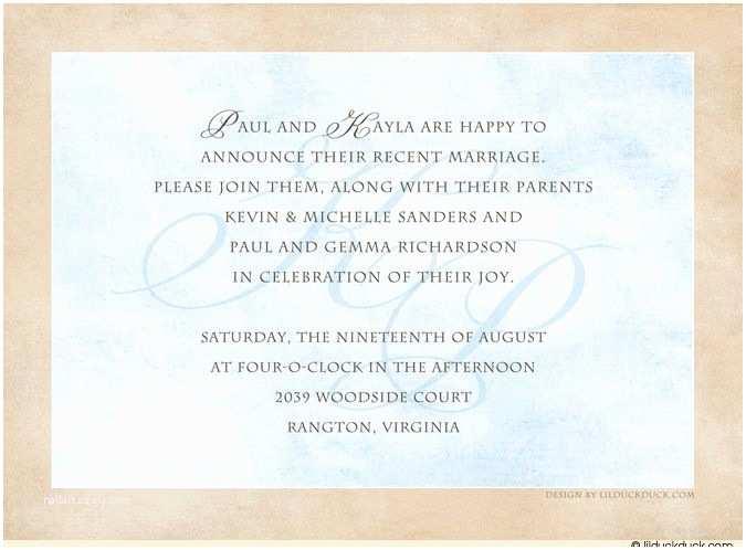 Post Wedding Reception Invitation Wording Post Wedding Reception Invitation Wording