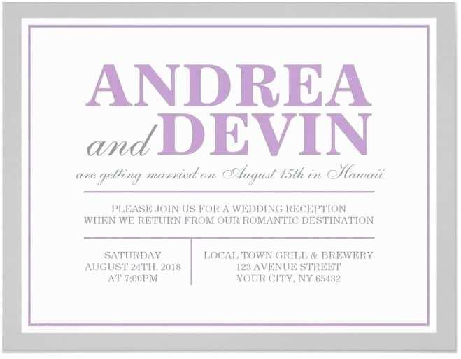 Post Wedding Reception Invitations 21 Beautiful at Home Wedding Reception Invitations