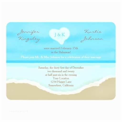 Post Wedding Reception Invitations Post Wedding Reception Invitation Watercolor