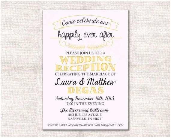 Post Wedding Reception Invitations Post Wedding Reception Invitation Wording Informal New