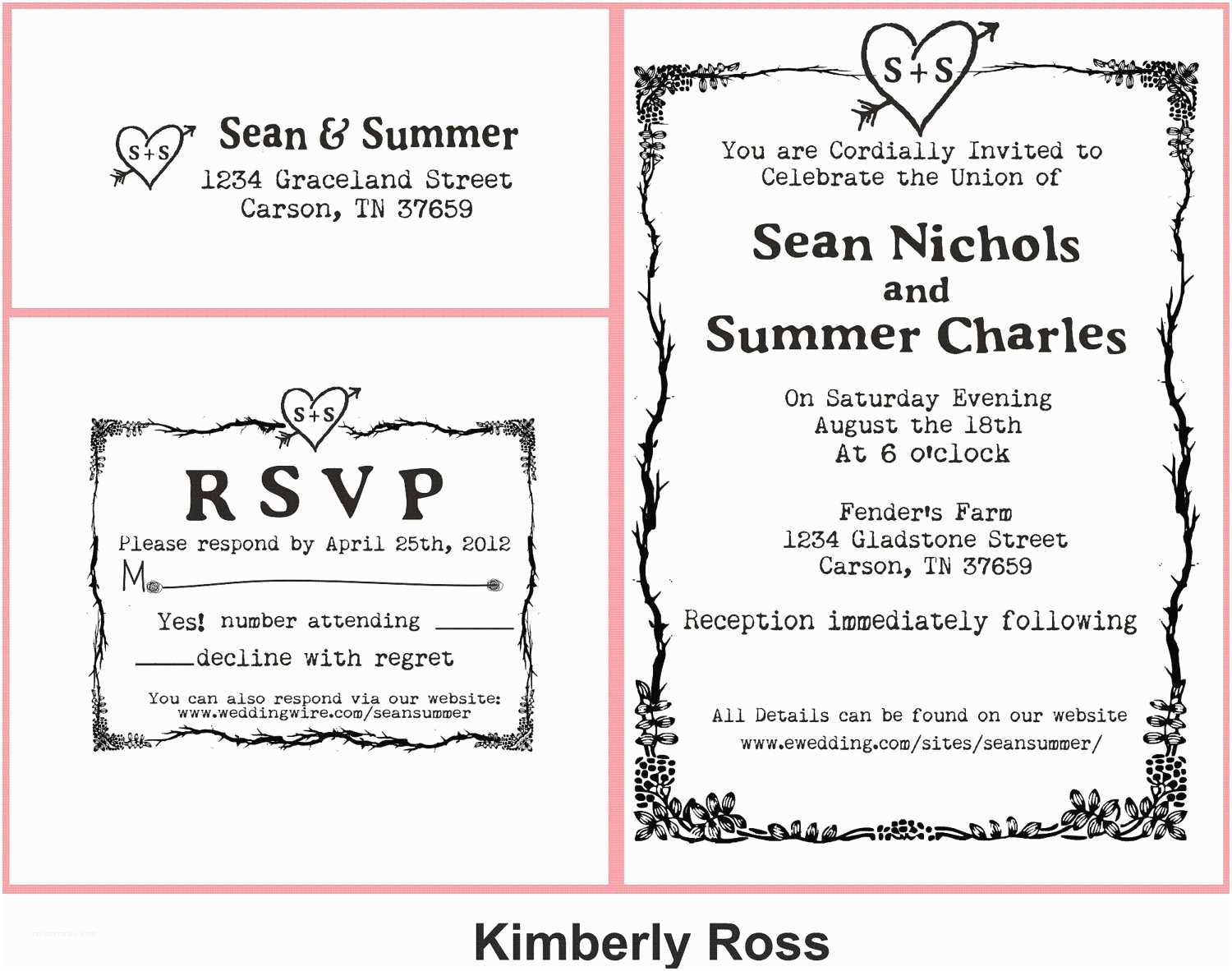 Postage Stamps for Wedding Invitations Wedding Invitation Rubber Stamp with Typewriter Font and