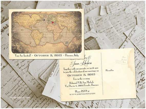 Postcard Wedding Invitations 50 Wedding Invitation Postcards Destination