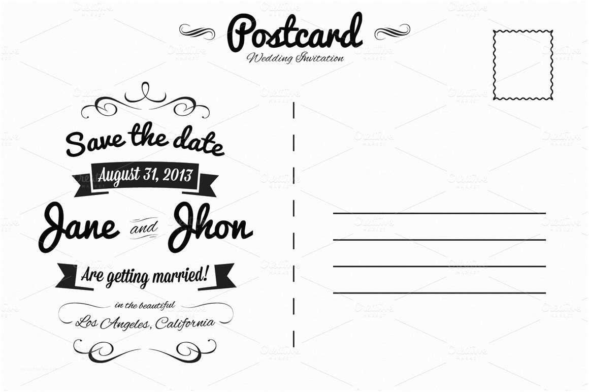 Postcard Wedding Invitations Elegant Wedding Invitation Postcard Invitation