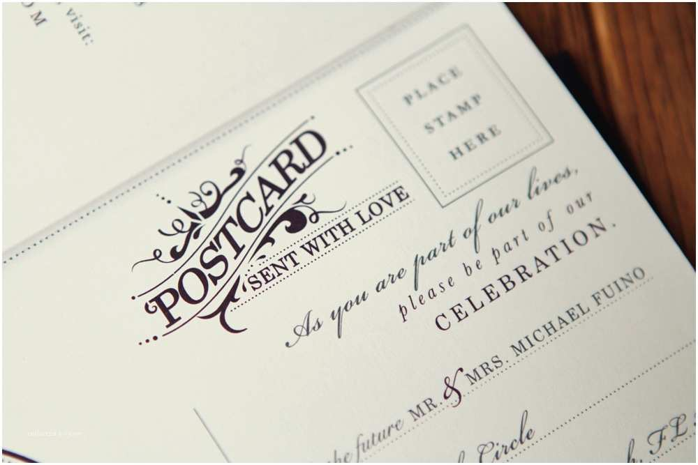 Postcard Wedding  Michael Breanna S Antique Book Wedding
