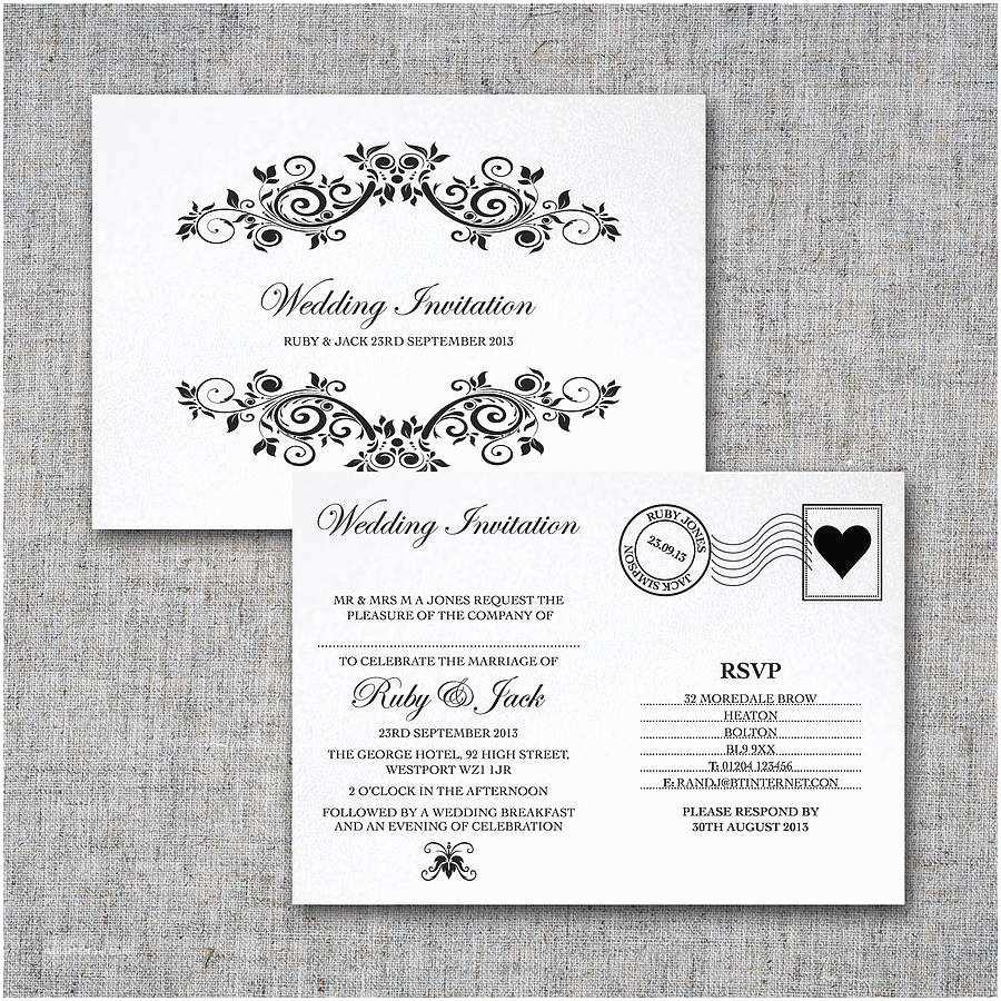 Postcard Wedding Invitations Personalised Postcard Wedding Invitation By