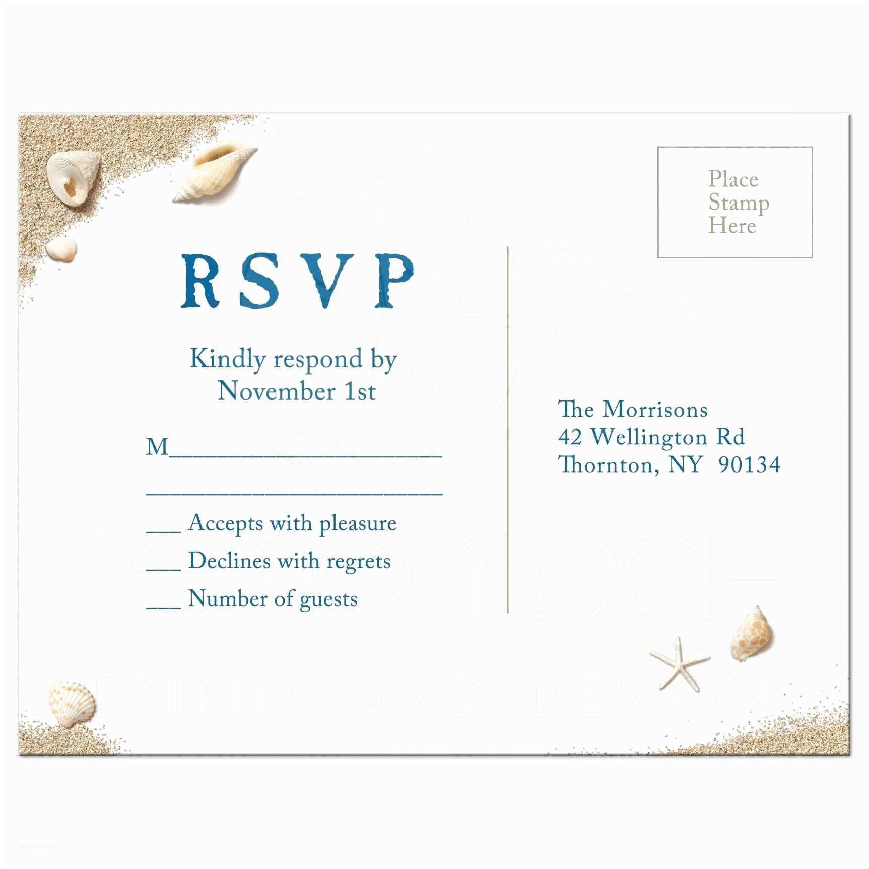 Postcard Wedding Invitations Rsvp Postcard Beach Sandy toes Salty Kisses