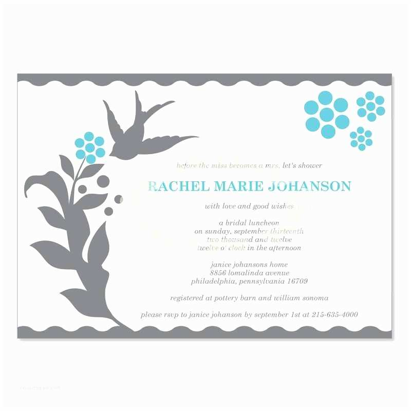 Postcard Wedding Invitations Template Bridal Shower Invitation Postcard Template