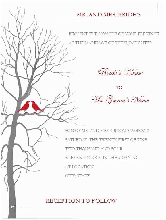 Postcard Wedding Invitations Template Free Printable Wedding Invitation Templates for Word
