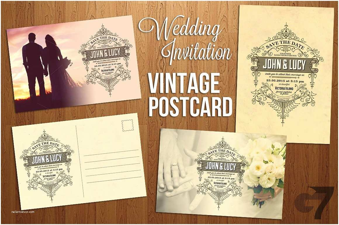 Postcard Wedding Invitations Template Wedding Invitation Vintage Postcard Invitation Templates