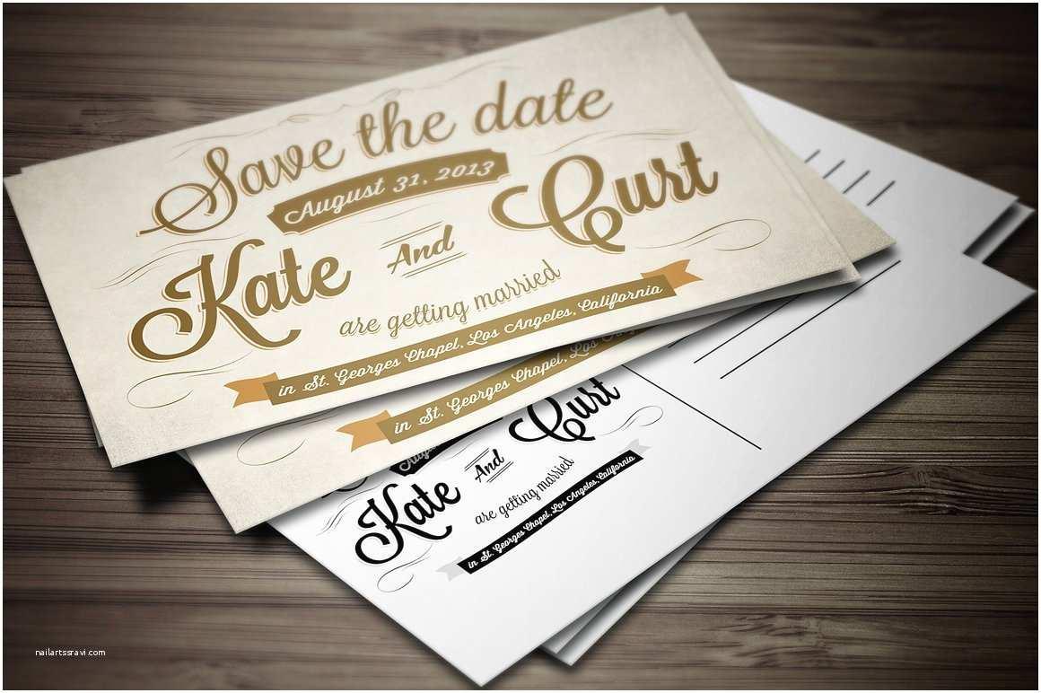 Postcard Wedding Invitations Vintage Wedding Invitation Postcard Card
