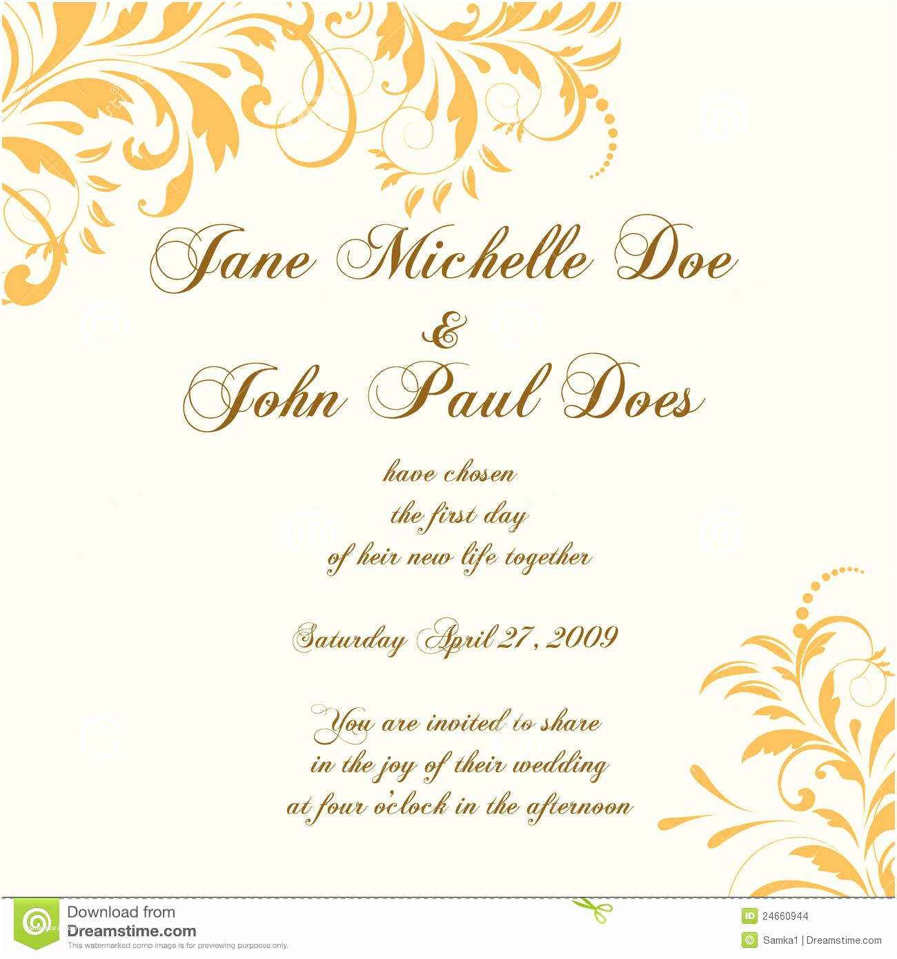 Postcard Wedding Invitations Wedding Card Invitation With Abstract Floral