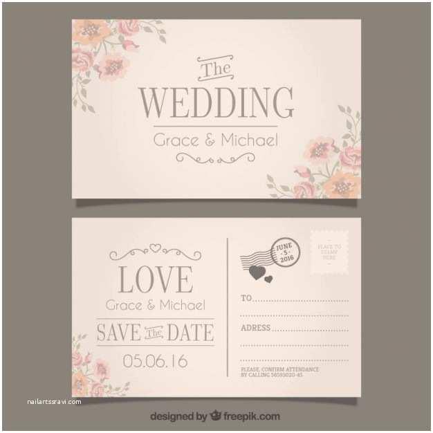 Postcard Wedding Invitations Wedding Invitation In Postcard Style