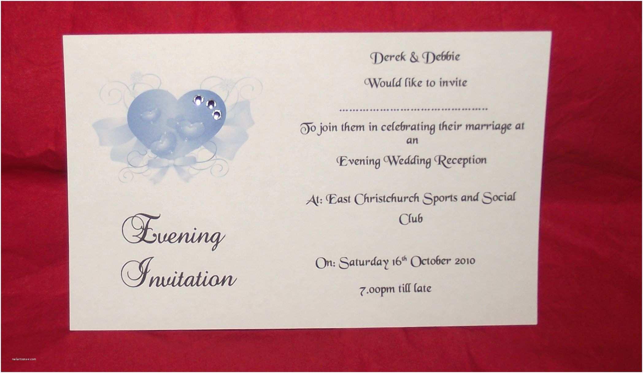 Postcard Wedding Invitations Wedding Invitations Day Or Evening Personalised