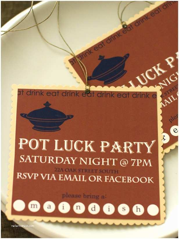 Potluck Party Invitation Potluck and Dinner Party Recipes Potluck Dinner Food