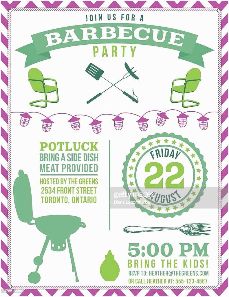 Potluck Party Invitation Potluck Barbecue Vertical Party Invitation Poster In Green