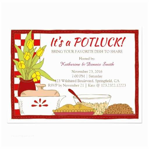 """Potluck Party Invitation Search Results for """"pot Luck Template"""" – Calendar 2015"""