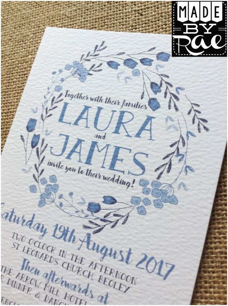 Powder Blue Wedding Invitations 17 Best Ideas About Floral Wedding Invitations On