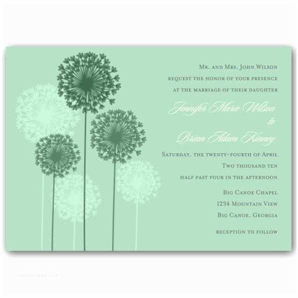 Powder Blue Wedding Invitations Dandelions Powder Blue Wedding Invitations