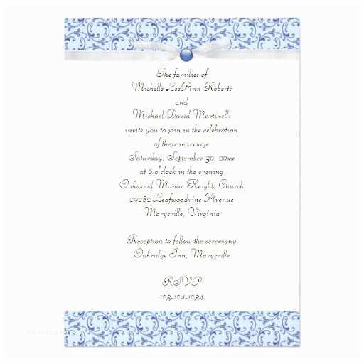 Powder Blue Wedding Invitations Powder Blue Florentine Wedding Invitation