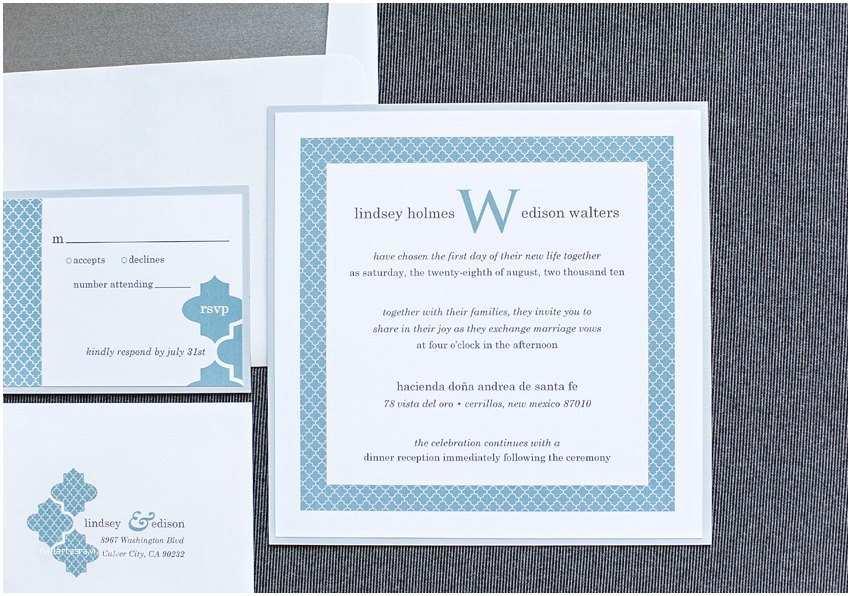 Powder Blue Wedding Invitations Powder Blue White and Gray Wedding Invitation Suite – Art
