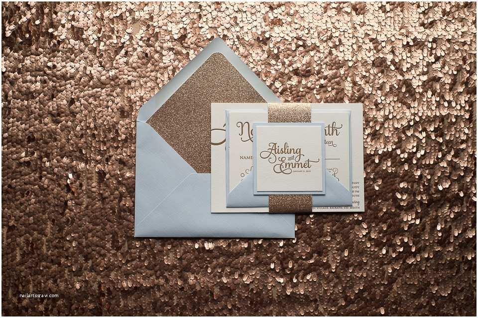 Powder Blue Wedding Invitations Real Wedding Aisling and Emmet