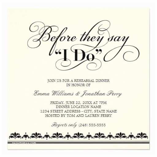 Pre Wedding Dinner Invitation Wording 25 Best Ideas About Wedding Rehearsal Invitations On