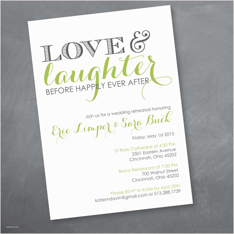 Pre Wedding Dinner Invitation Wording Love and Laughter Rehearsal Dinner Invitation Digital Design