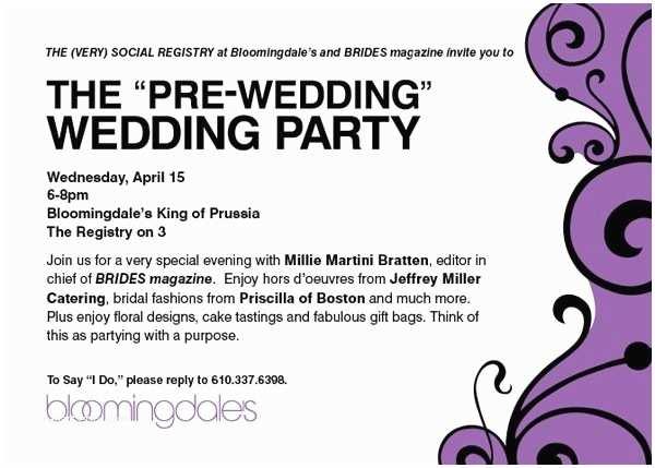 Pre Wedding Dinner Invitation Wording Pre Wedding Party Invitation Wording