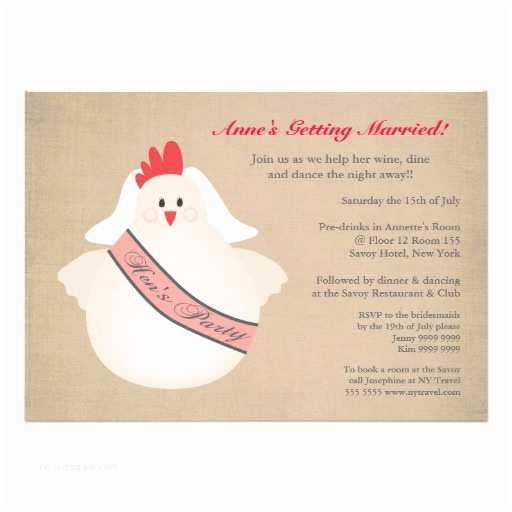 Pre Wedding Party Invitation Chicken Hens Girls Night Pre Wedding Party Invite 13 Cm X