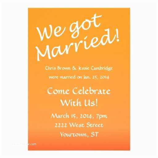 """Pre Wedding Party Invitation We Got Married Post Wedding Party Invitation 5"""" X 7"""