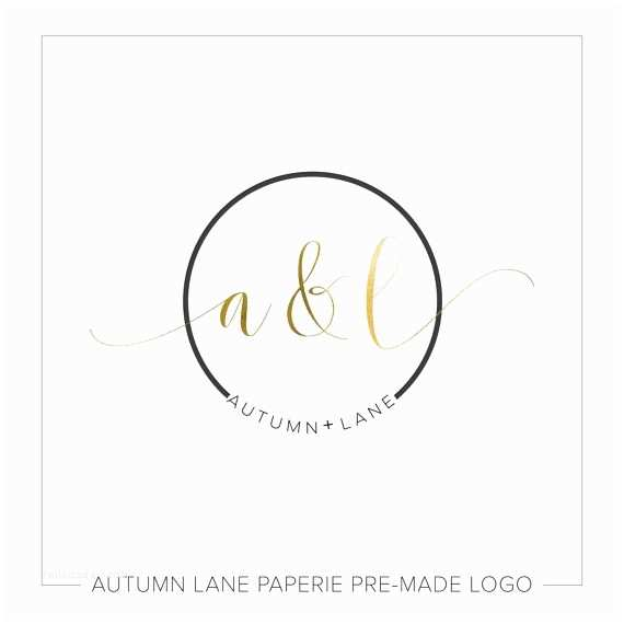 Premade Wedding Invitations Premade Logo Design Simple Logo Circle Logo Watermark