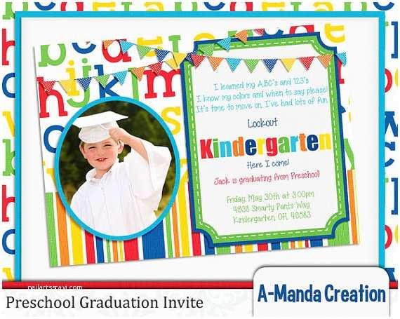 Preschool Graduation Invitations A Manda Creation Preschool Party Graduation Printables